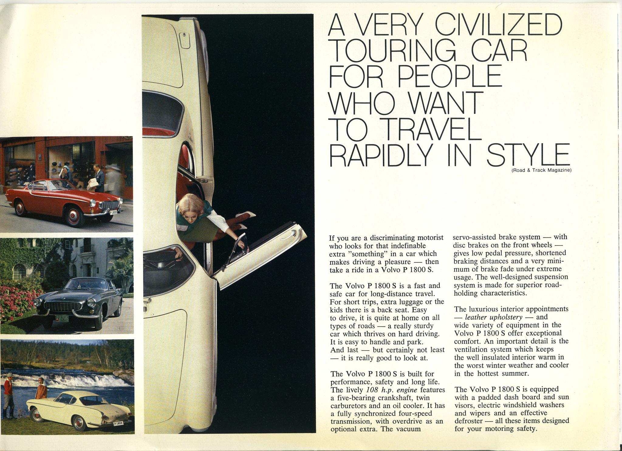 Volvo P1800S brochure, Feb 1963 - page 2