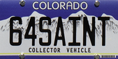 License plate for 64SAINT