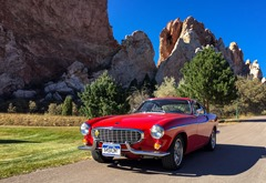 Red car by red rocks 2