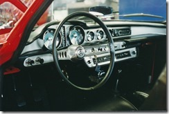Volvo 1800S after restoration - Dash from driver side