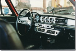 Volvo 1800S after restoration - Dash from passenger side