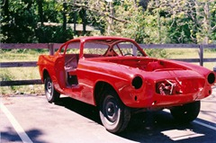 Volvo 1800S in mid-restoration - Front Right