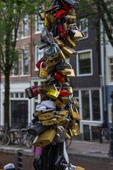 Locks on Bridge -Amsterdam
